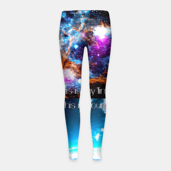 This is my limit this is yours Girl's Leggings obraz miniatury