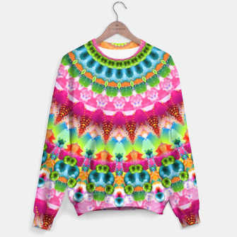Bubble Gum Candy Kaleidoscope Half Sweater thumbnail image