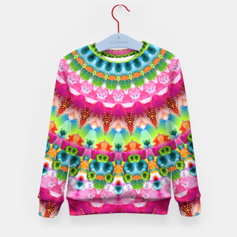 Bubble Gum Candy Kaleidoscope Half Kid's Sweater thumbnail image