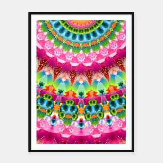 Bubble Gum Candy Kaleidoscope Half Framed poster thumbnail image