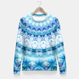 Bouncing Off Of Clouds Kaleidoscope Half  Fitted Waist Sweater thumbnail image