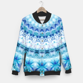 Bouncing Off Of Clouds Kaleidoscope Half  Baseball Jacket thumbnail image