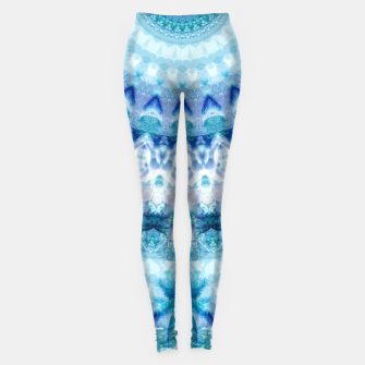 Bouncing Off Of Clouds Kaleidoscope Half  Leggings thumbnail image