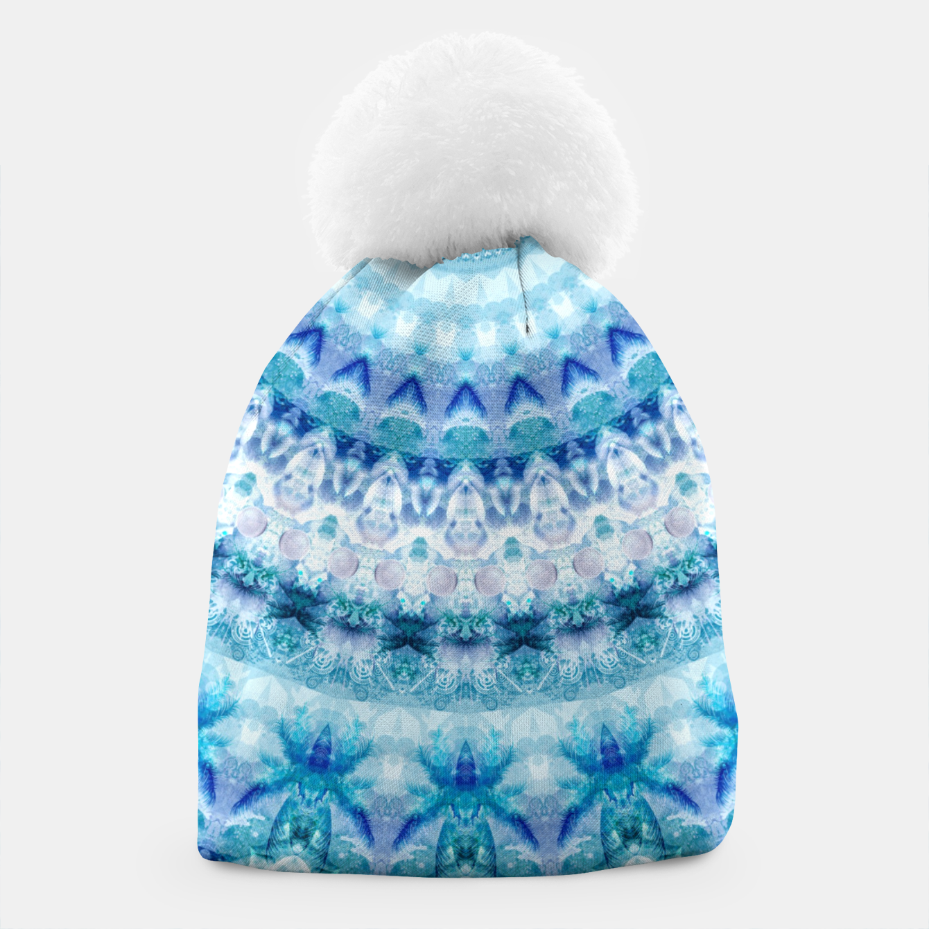 Image of Bouncing Off Of Clouds Kaleidoscope Half  Beanie - Live Heroes
