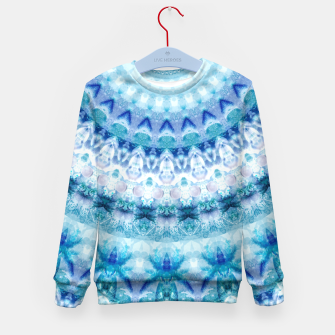 Bouncing Off Of Clouds Kaleidoscope Half  Kid's Sweater thumbnail image