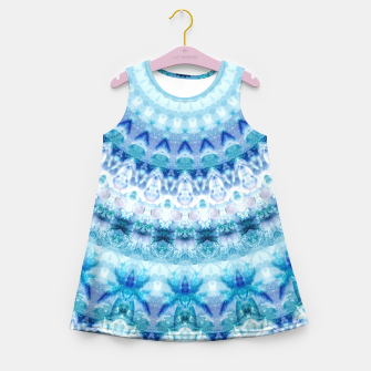 Bouncing Off Of Clouds Kaleidoscope Half  Girl's Summer Dress thumbnail image