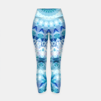 Bouncing Off Of Clouds Kaleidoscope Half  Yoga Pants thumbnail image