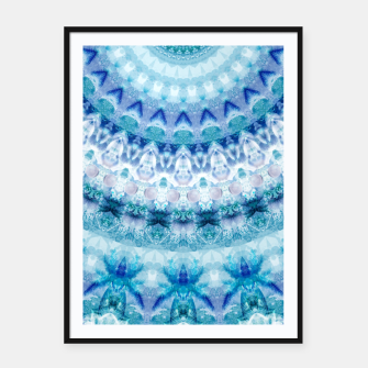 Bouncing Off Of Clouds Kaleidoscope Half  Framed poster thumbnail image