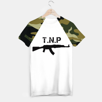 Miniaturka Camouflage Army Style Soldier Guns Men T-shirt, Live Heroes