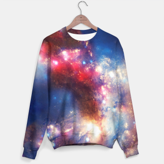 Thumbnail image of Red blue nebula sweater, Live Heroes