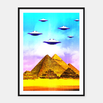 Thumbnail image of Aliens Built it Framed poster, Live Heroes