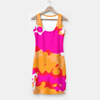 Thumbnail image of splash painting texture abstract in pink and orange Simple Dress, Live Heroes