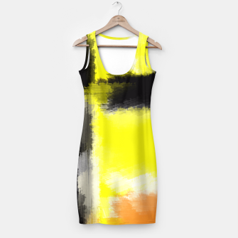 Thumbnail image of orange yellow black abstract painting background Simple Dress, Live Heroes