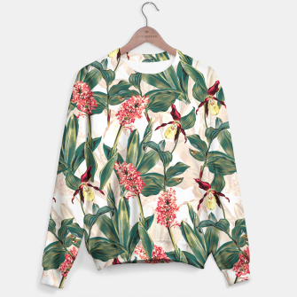 Thumbnail image of Tropical Leaf Pattern Sweater, Live Heroes