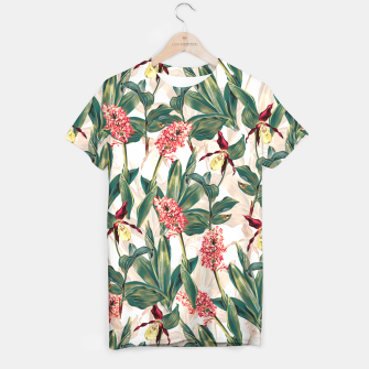 Thumbnail image of Tropical Leaf Pattern T-shirt, Live Heroes