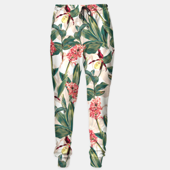 Thumbnail image of Tropical Leaf Pattern Sweatpants, Live Heroes