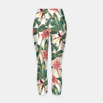 Thumbnail image of Tropical Leaf Pattern Yoga Pants, Live Heroes