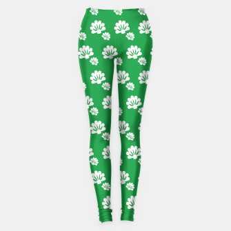 Thumbnail image of Green Floral Summer Pattern Leggings, Live Heroes