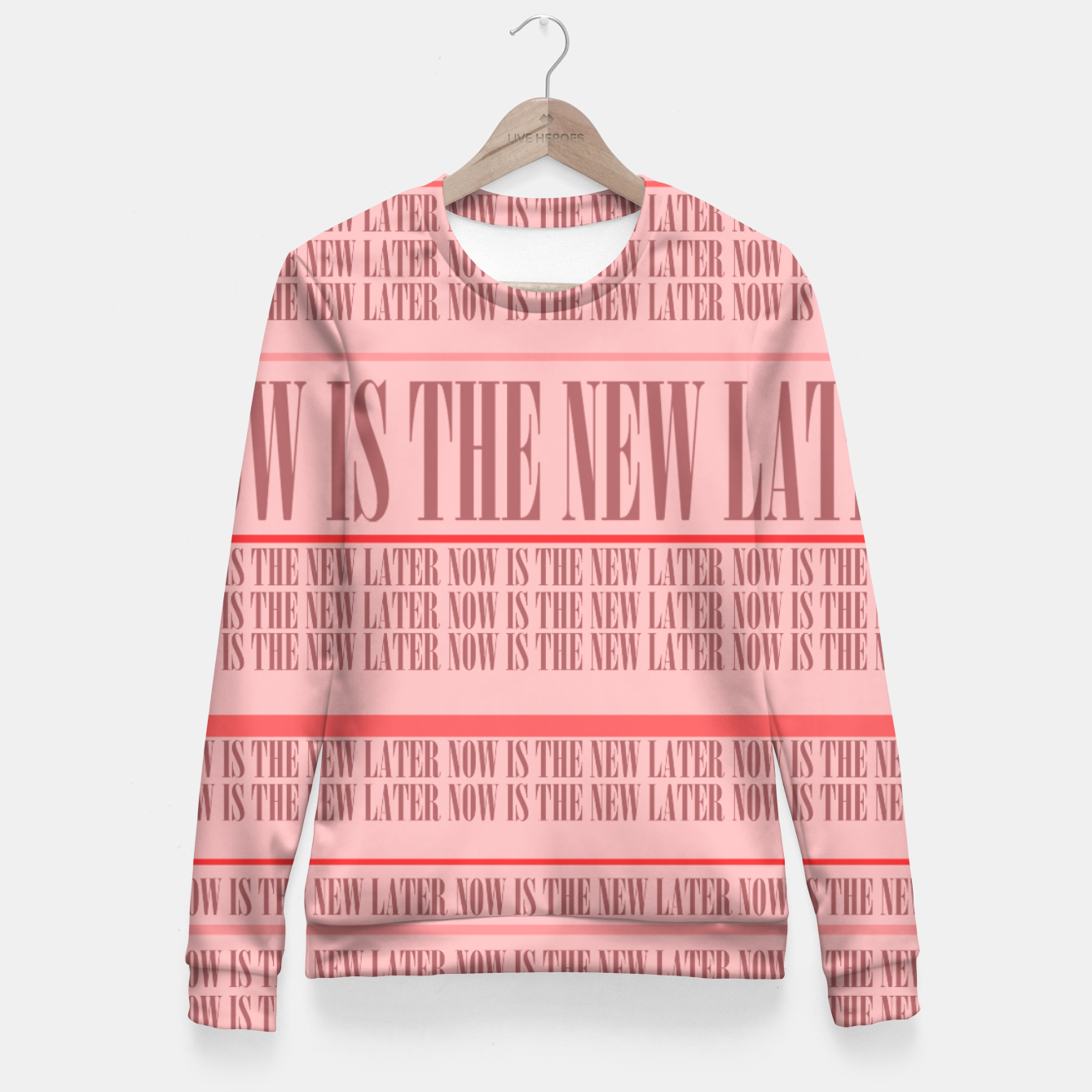 Image of Now or Never Fitted Waist Sweater - Live Heroes