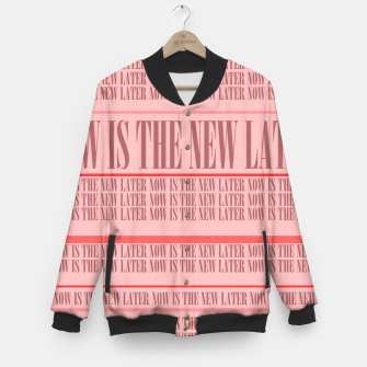 Thumbnail image of Now or Never Baseball Jacket, Live Heroes