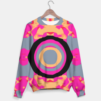 Thumbnail image of psychedelic graffiti skull head in pink and orange with grey background Sweater, Live Heroes