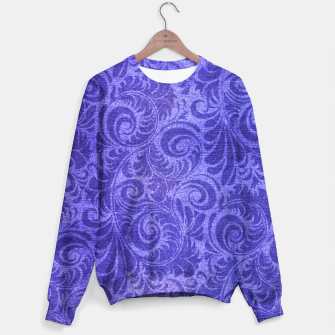 Thumbnail image of Vibrant Blue - Purple Floral Pattern Sweater, Live Heroes