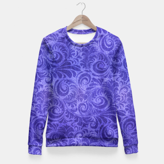 Thumbnail image of Vibrant Blue - Purple Floral Pattern Fitted Waist Sweater, Live Heroes