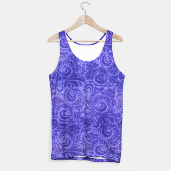 Thumbnail image of Vibrant Blue - Purple Floral Pattern Tank Top, Live Heroes