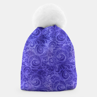 Thumbnail image of Vibrant Blue - Purple Floral Pattern Beanie, Live Heroes