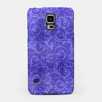 Thumbnail image of Vibrant Blue - Purple Floral Pattern Samsung Case, Live Heroes