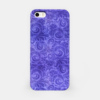 Thumbnail image of Vibrant Blue - Purple Floral Pattern iPhone Case, Live Heroes