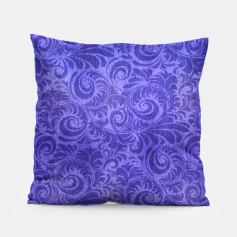 Thumbnail image of Vibrant Blue - Purple Floral Pattern Pillow, Live Heroes