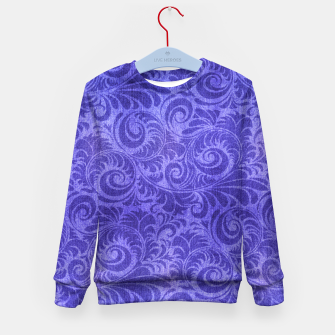 Thumbnail image of Vibrant Blue - Purple Floral Pattern Kid's Sweater, Live Heroes