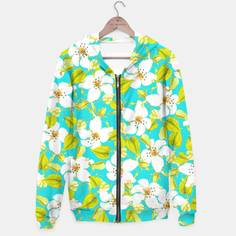Thumbnail image of White Floral Hoodie, Live Heroes