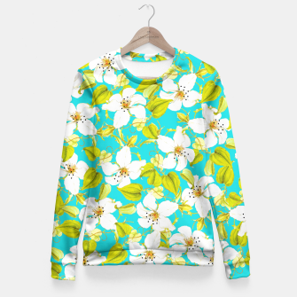 Thumbnail image of White Floral Fitted Waist Sweater, Live Heroes