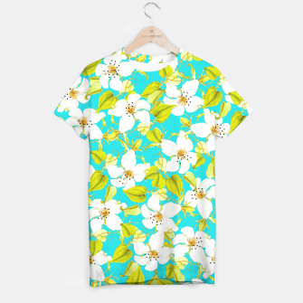 Thumbnail image of White Floral T-shirt, Live Heroes