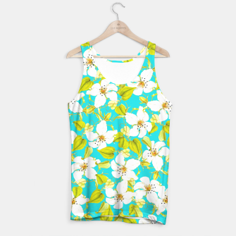 Thumbnail image of White Floral Tank Top, Live Heroes