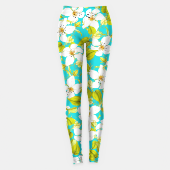 Thumbnail image of White Floral Leggings, Live Heroes