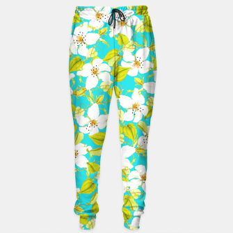 Thumbnail image of White Floral Sweatpants, Live Heroes