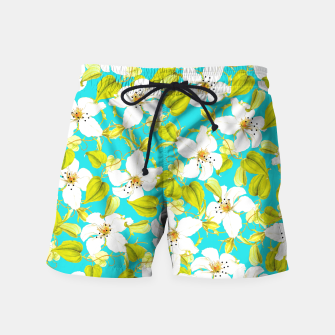 Thumbnail image of White Floral Swim Shorts, Live Heroes