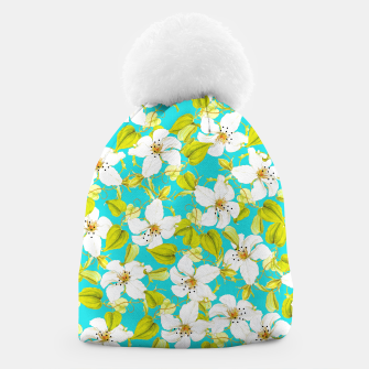 Thumbnail image of White Floral Beanie, Live Heroes