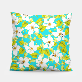 Thumbnail image of White Floral Pillow, Live Heroes