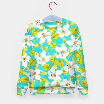 Thumbnail image of White Floral Kid's Sweater, Live Heroes