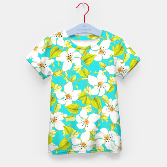 Thumbnail image of White Floral Kid's T-shirt, Live Heroes