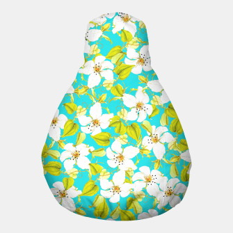 Thumbnail image of White Floral Pouf, Live Heroes