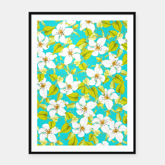 Thumbnail image of White Floral Framed poster, Live Heroes