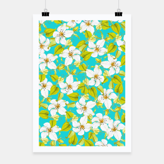 Thumbnail image of White Floral Poster, Live Heroes