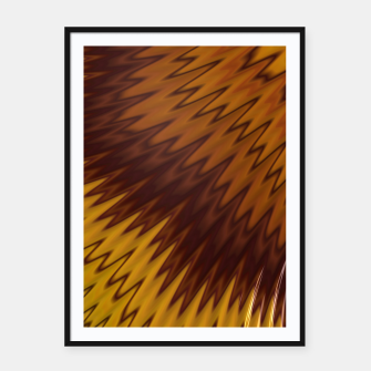 Thumbnail image of Yellow/Brown Diagonal Pattern Framed poster, Live Heroes