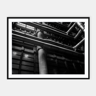 Thumbnail image of Industrial Pipes Framed poster, Live Heroes