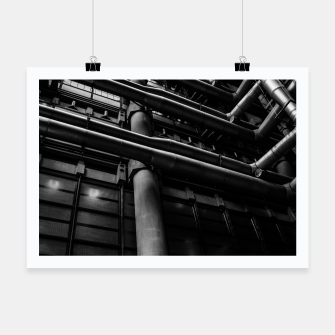 Thumbnail image of Industrial Pipes Poster, Live Heroes